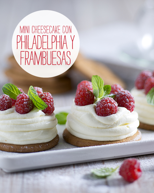 Mini Cheesecake con Philadelphia y frambuesas